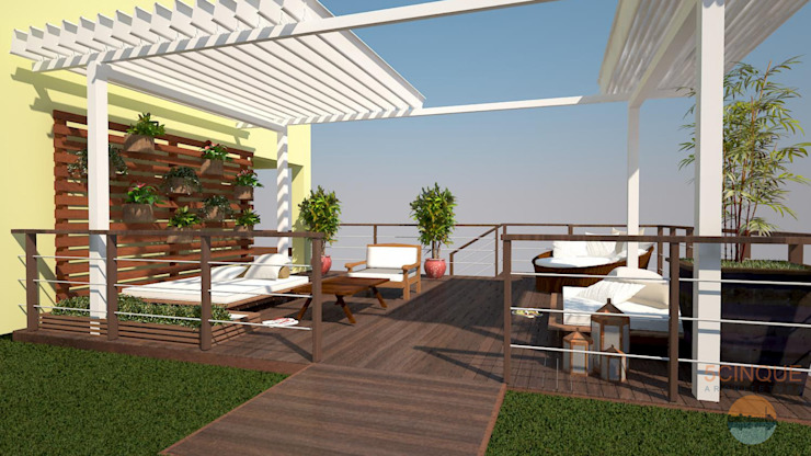 Country style balcony, veranda & terrace by 5CINQUE ARQUITETURA LTDA Country