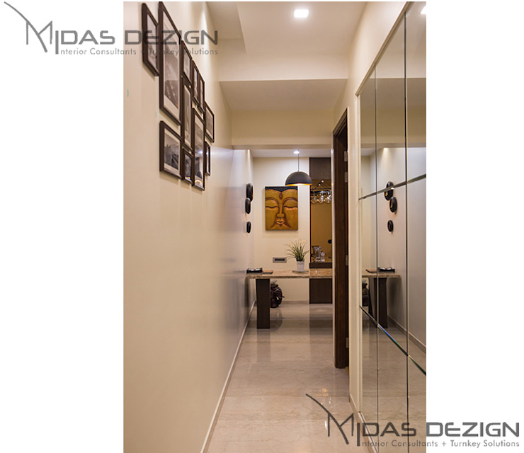 3BHK @ ALTA MONTE MALAD EAST Asian style corridor, hallway & stairs by Midas Dezign Asian
