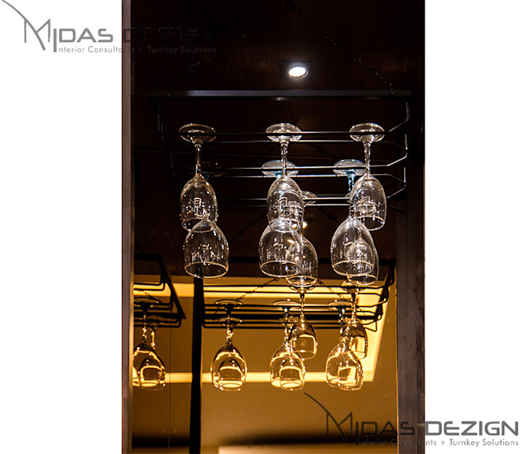3BHK @ ALTA MONTE MALAD EAST Asian style wine cellar by Midas Dezign Asian