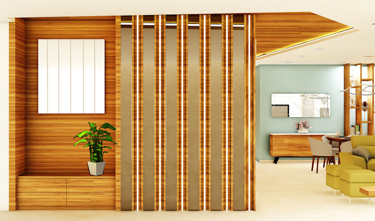 3BHK @ OBEROI ESQUIRE Colonial style corridor, hallway& stairs by Midas Dezign Colonial