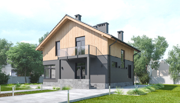 Country house by Альберт Галимов, Scandinavian Aluminium/Zinc