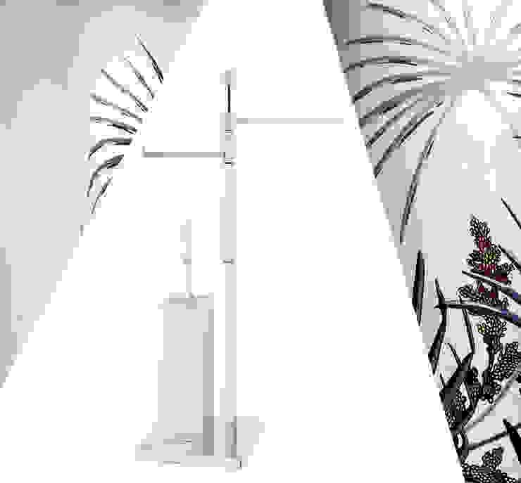 Piantana da bagno geometrica e squadrata multi funzione Idearredobagno.it Bagno minimalista Rame / Bronzo / Ottone Metallizzato/Argento