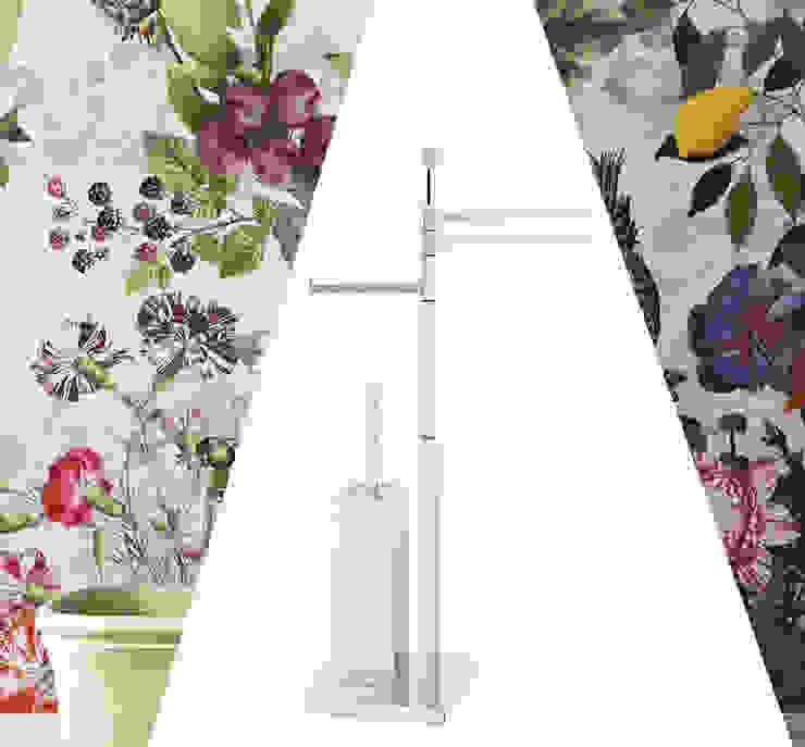 Piantana per arredamento da bagno: stile moderno, qualità Made In Italy Idearredobagno.it Bagno minimalista Rame / Bronzo / Ottone Metallizzato/Argento