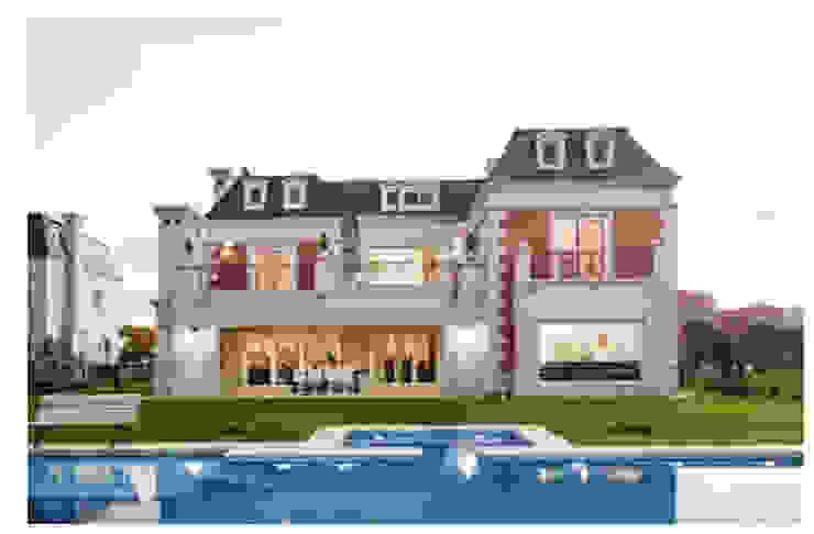 Diseño de casa estilo victoriano por CIBA: Casas unifamiliares de estilo  por CIBA ARQUITECTURA,Clásico