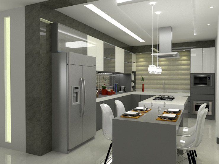Kitchen by Multiplanos Arquitetura,