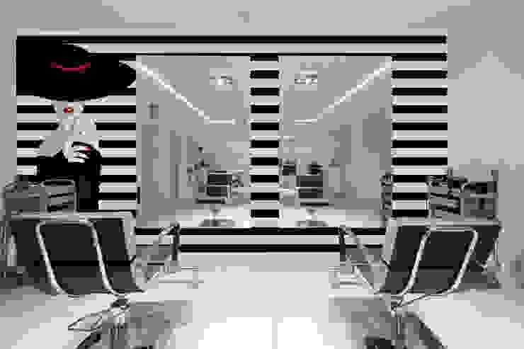 Papel tapiz personalizado en salón de belleza. Paredes y pisos de estilo minimalista de Kromart Wallcoverings - Papel Tapiz Personalizado Minimalista