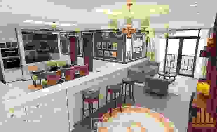 Tổng thể thiết kế căn hộ bởi Thiết kế - Nội thất - Dominer