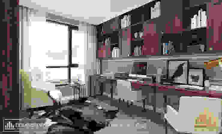 Không gian phòng làm việc bởi Thiết kế - Nội thất - Dominer