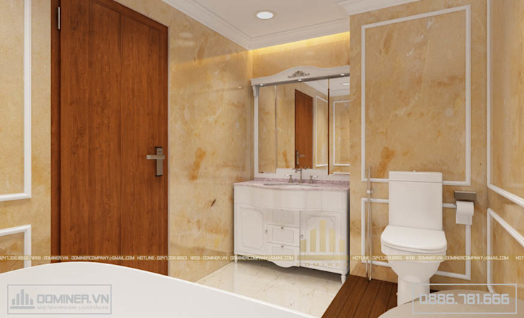 Khu vực vệ sinh bởi Thiết kế - Nội thất - Dominer