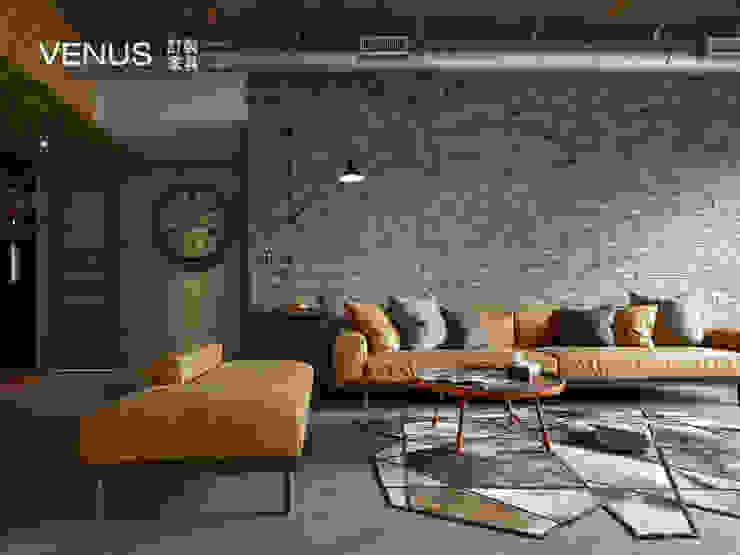 沙發訂製: 產業  by VENUS訂製家具, 工業風 皮革 Grey