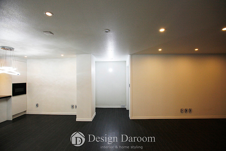 잠실 우성아파트 43py 복도 모던스타일 복도, 현관 & 계단 by Design Daroom 디자인다룸 모던