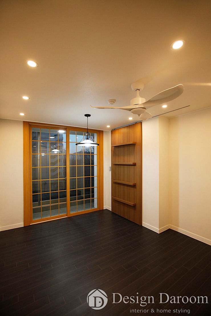 잠실 우성아파트 43py 서재방 모던스타일 침실 by Design Daroom 디자인다룸 모던