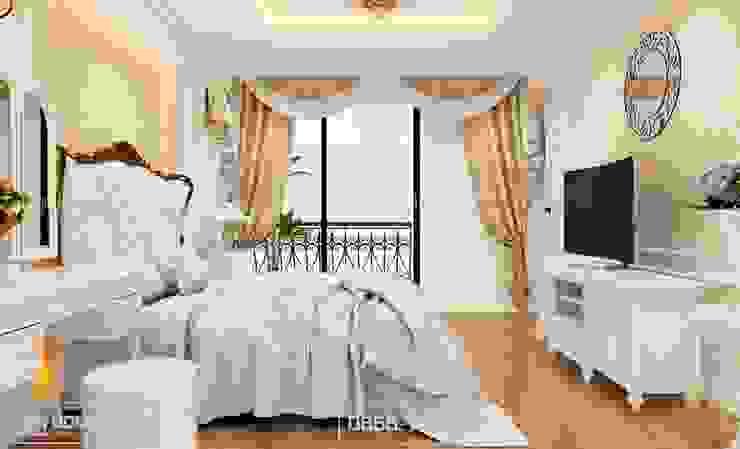 Không gian phòng ngủ bởi Thiết kế - Nội thất - Dominer