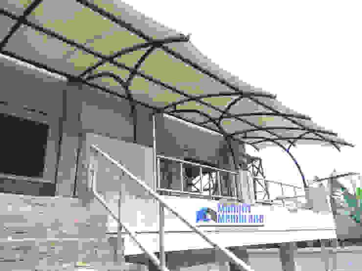 Canopy membrane areal gedung dan pertokoan:modern  oleh Jaya Mandiri Membrane, Modern