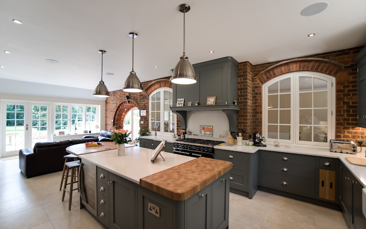 Industrial style kitchen by John Ladbury and Company par John Ladbury and Company Industriel Bois Effet bois