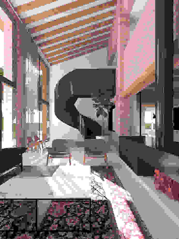 Salones mediterráneos de MIDE architetti Mediterráneo