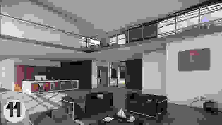 Render Interior de Taller Once Arquitectura Moderno