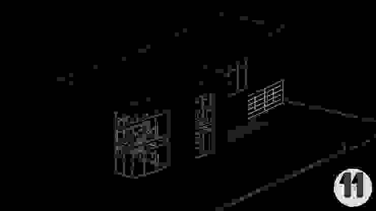 vista en Isométrico de Taller Once Arquitectura Moderno