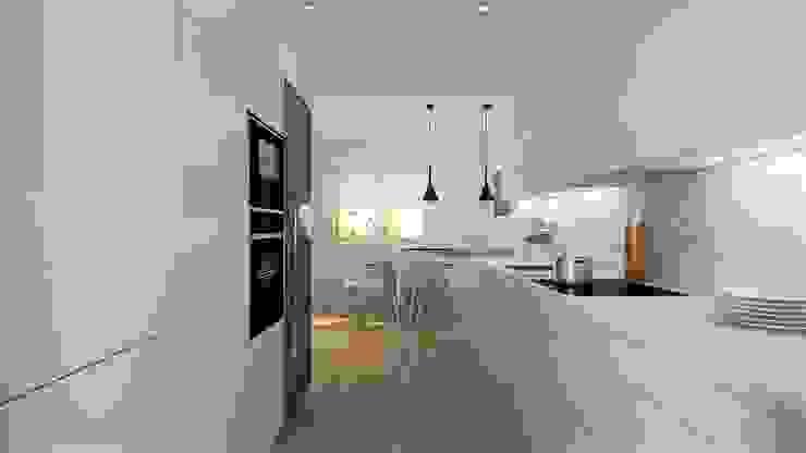 Una gran cocina para disfrutar del día a día SANTOS VAGUADA CocinaAlmacenamiento y despensa Blanco