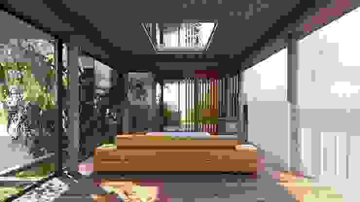 Multiespacios PA42 Dormitorios modernos: Ideas, imágenes y decoración de Rr+a bureau de arquitectos - La Plata Moderno Hormigón