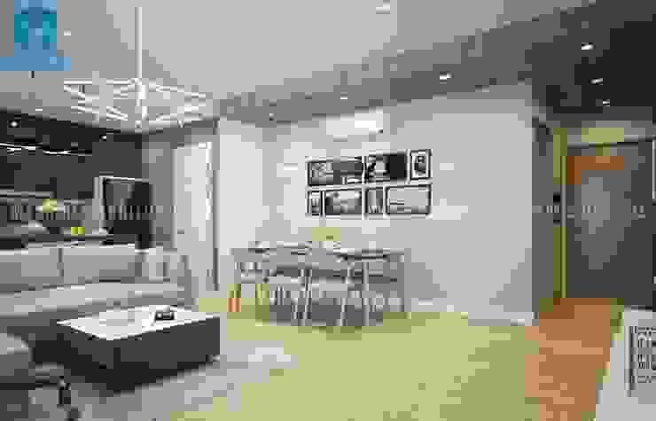 Designer: hiện đại  by Công ty TNHH Nội Thất Mạnh Hệ, Hiện đại Lông White