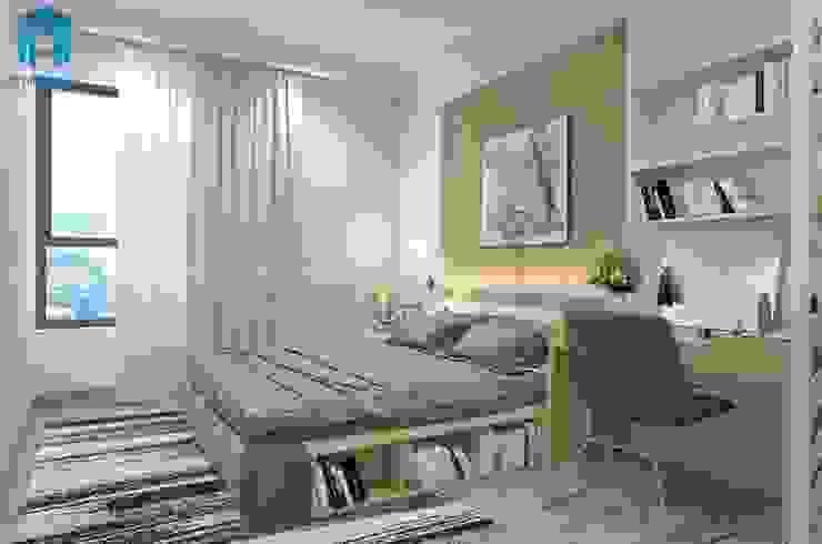 Designer: tối giản  by Công ty TNHH Nội Thất Mạnh Hệ, Tối giản Lụa Yellow