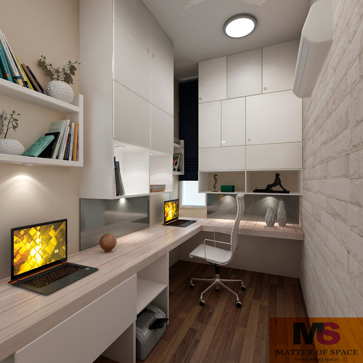 par Matter Of Space Pvt. Ltd. Minimaliste Bois Effet bois