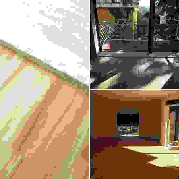 Sala principale uso salotto e sala da pranzo DUOLAB Progettazione e sviluppo Sala da pranzo moderna Legno Effetto legno