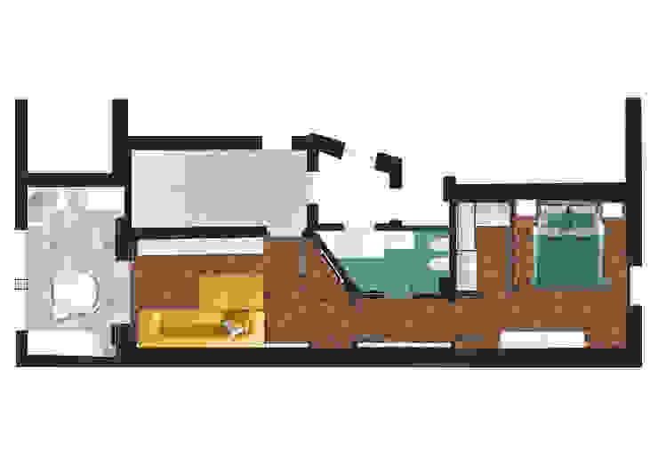planimetria di progetto DUOLAB Progettazione e sviluppo Pavimento Legno Marrone