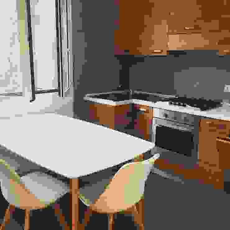 cucina DUOLAB Progettazione e sviluppo Cucina attrezzata Legno massello Grigio