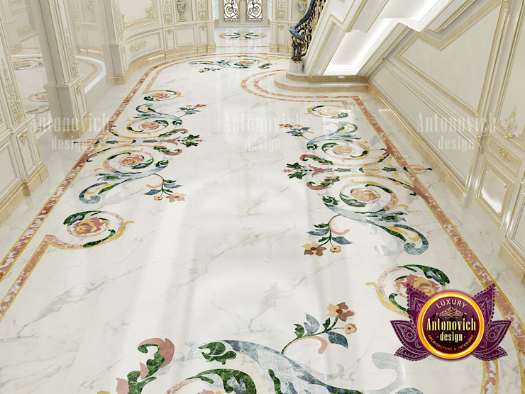 Sophisticated Luxury Marble Floor for Hall by Luxury Antonovich Design