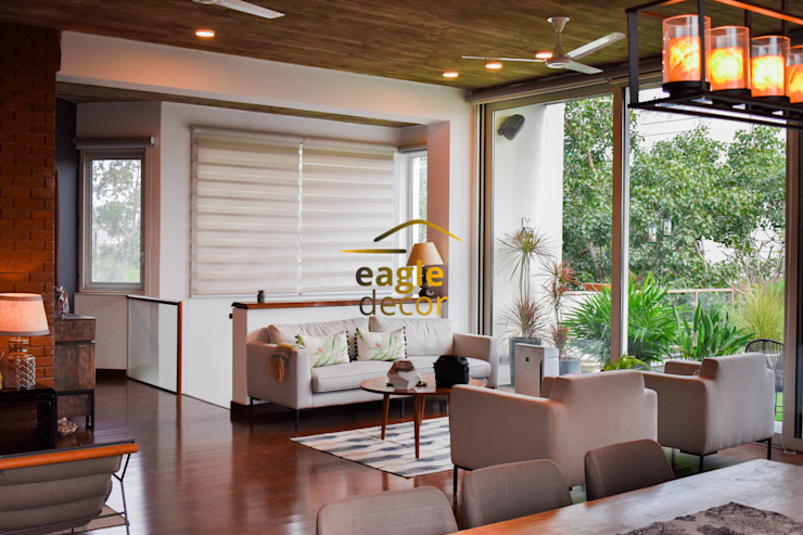 4 BHK luxury residential interior, location greater-kailash delhi   : modern  by Eagle Decor,Modern Textile Amber/Gold