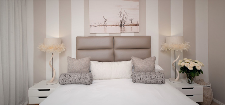 Guest Bedoom Eclectic style bedroom by Overberg Interiors Eclectic