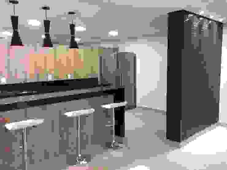 Espaço Gourmet- Ed Residencial por Lucia Helena Bellini arquitetura e interiores