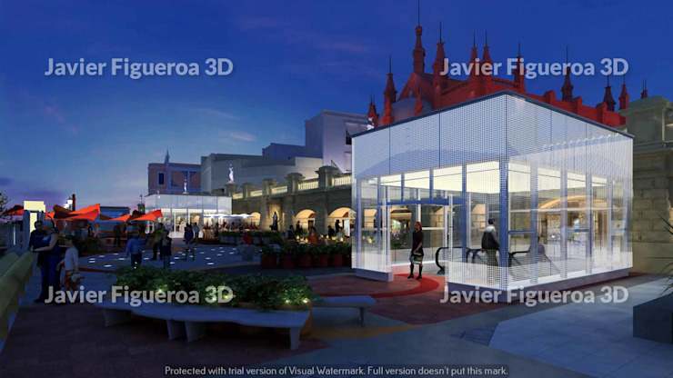 RENDERS EXTERIORES TERRAZAS BUENOS AIRES DESIGN Centros comerciales clásicos de Javier Figueroa 3D Clásico