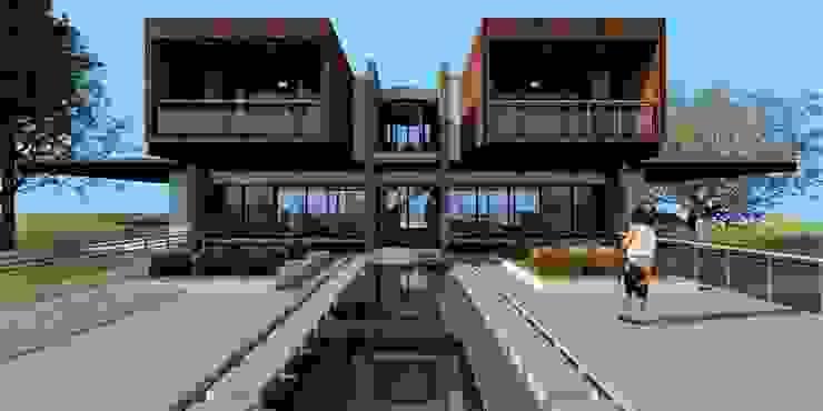 by JHONATAN NAVARRO ARQUITECTO Modern Concrete