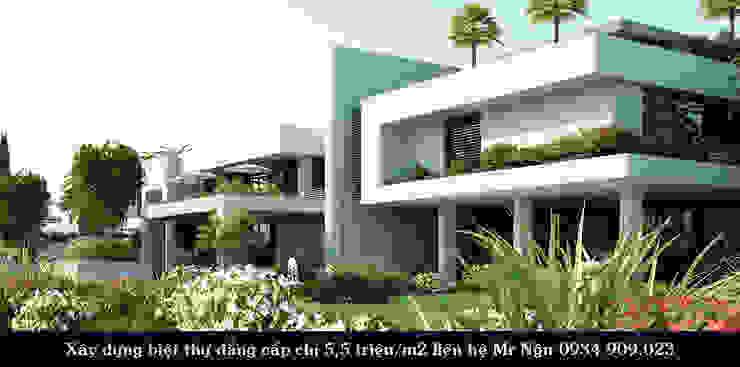 Những mẫu biệt thự cao cấp đẹp mắt nhất hiện nay bởi TNHH xây dựng và thiết kế nội thất AN PHÚ CONs 0911.120.739 Hiện đại