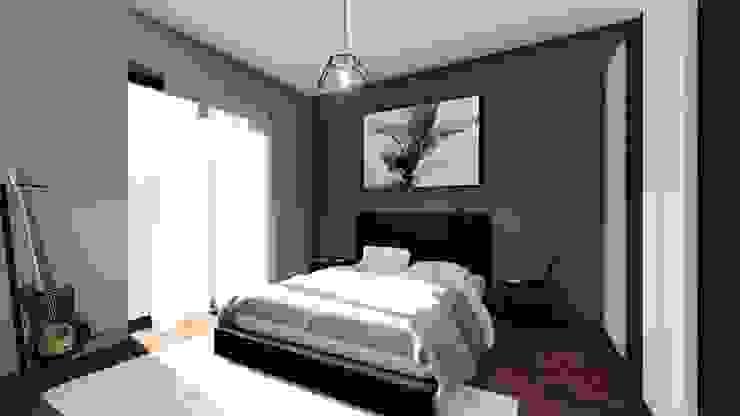 La camera da letto: il letto matrimoniale STUDIO ARCHITETTURA SPINONI ROBERTO Camera da letto moderna