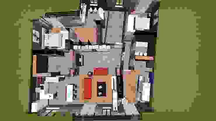 Pianta tridimensionale dell'intero appartamento STUDIO ARCHITETTURA SPINONI ROBERTO