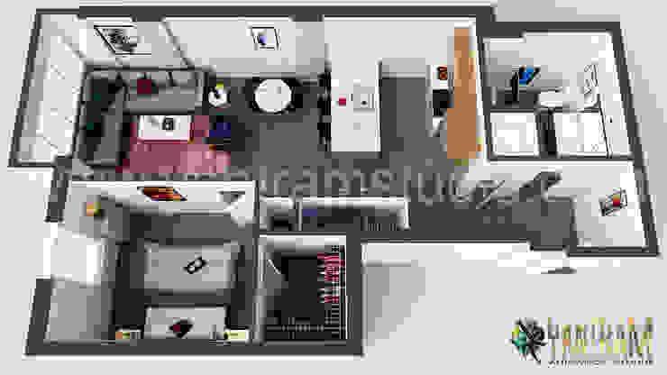 Modern Residential Floor Plan Designer Concept by Yantram 3D Architectural Animation Studio, Vancouver – Canada Oleh Yantram Architectural Design Studio Modern