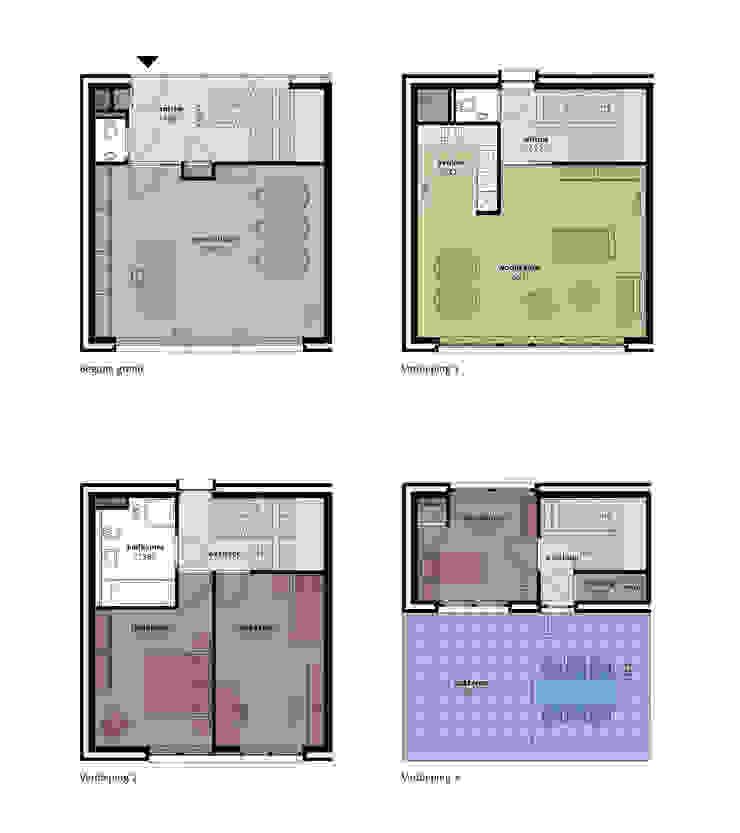 Woon / Werkwoningen Ceramique Maastricht Moderne huizen van Verheij Architecten BNA Modern