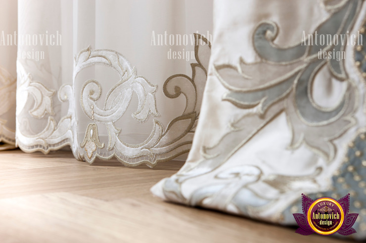 Curtain Treatment By Amazing Female Designer by Luxury Antonovich Design