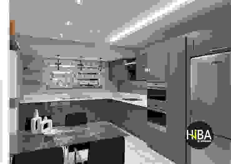 Nhà bếp phong cách hiện đại bởi Hiba iç mimarik Hiện đại