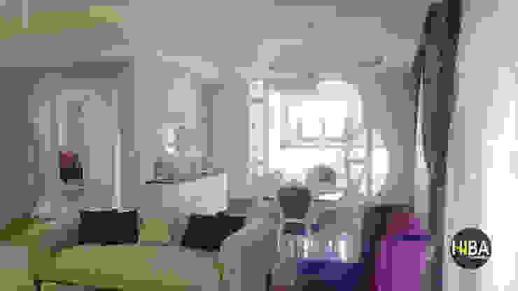 Hiba iç mimarik Ruang Keluarga Klasik Purple/Violet