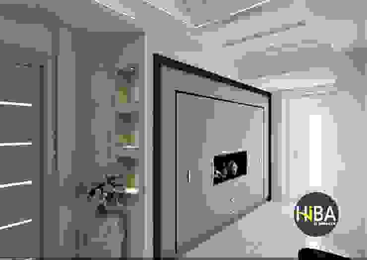 Hiba iç mimarik Modern corridor, hallway & stairs White