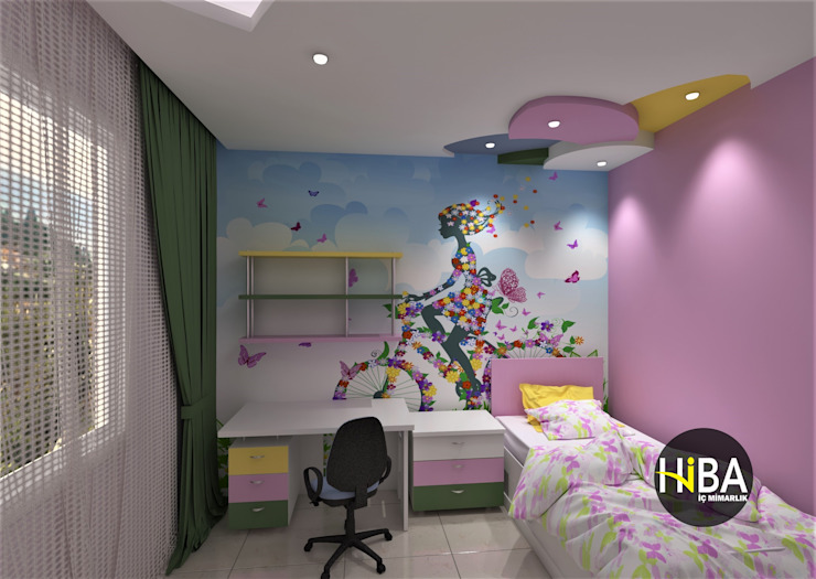 Hiba iç mimarik Modern nursery/kids room Multicolored