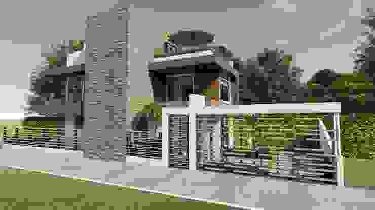 Casas de estilo  por DISARQ ARQUITECTOS.