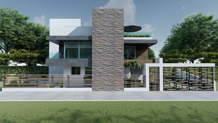 Houses by DISARQ ARQUITECTOS., Modern