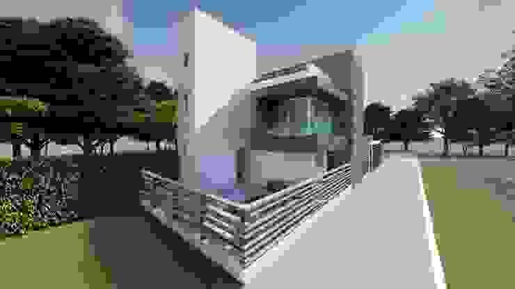 Casas pequeñas de estilo  por DISARQ ARQUITECTOS.