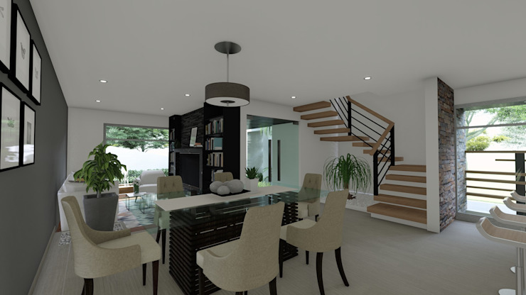 Modern dining room by DISARQ ARQUITECTOS. Modern